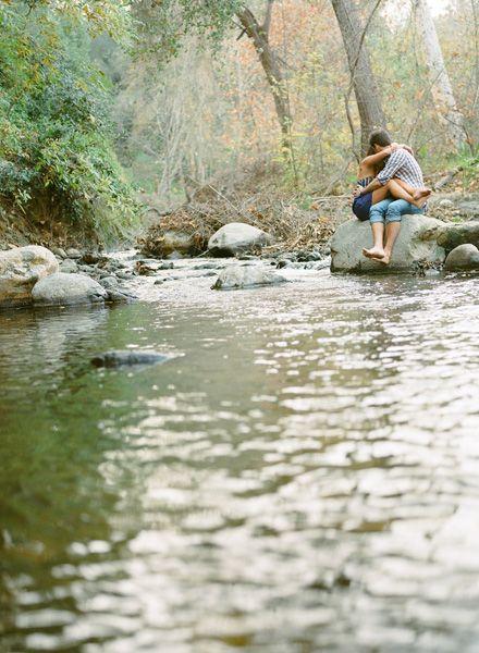 River Engagement Photos