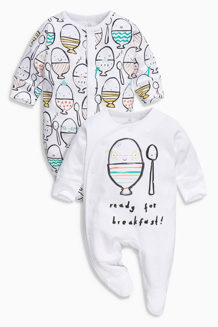 Buy Bright Egg Print Sleepsuits Two Pack (0mths-2yrs) from the Next UK online shop