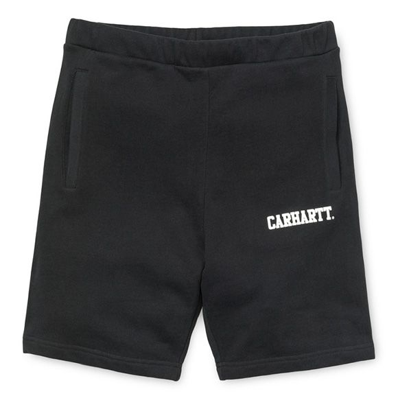 Carhartt WIP Sweat Short - Black / White