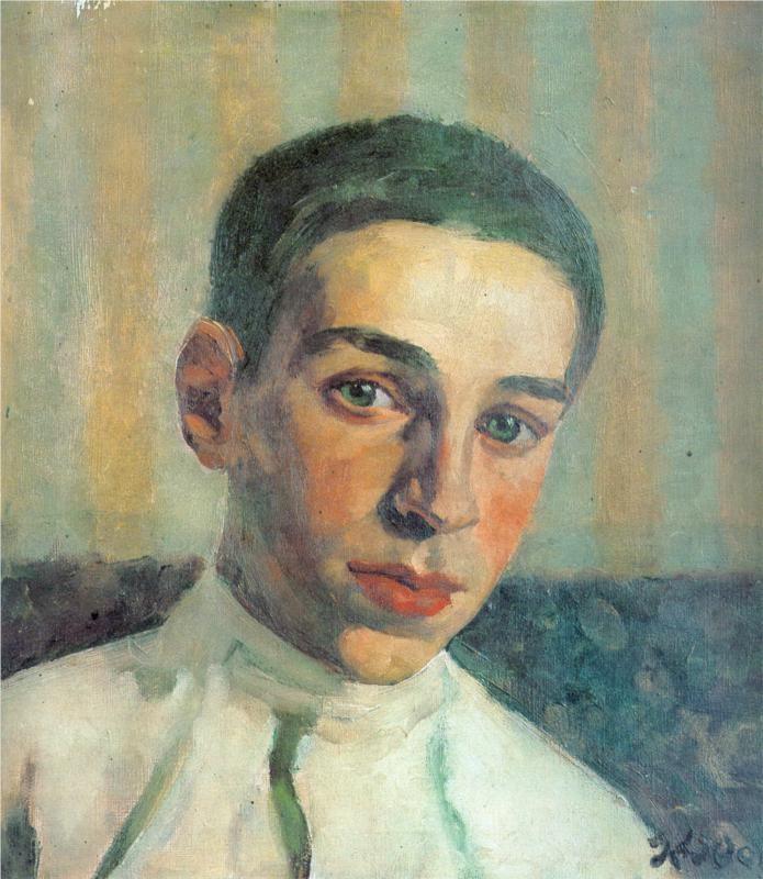 Portrait of Oleg Yuon, the artist's grandson (1929)  Konstantin Fyodorovich Yuon (Константи́н Фёдорович Юо́н. Unión Soviética. Rusia, 1875-1958)