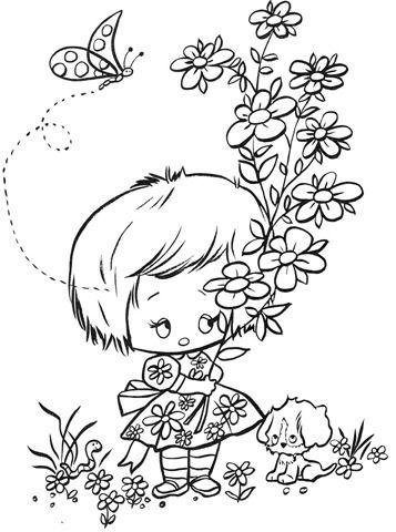 Desenhos de meninas para pintar em fraldas | Desenhos e Riscos - Desenhos para colorir