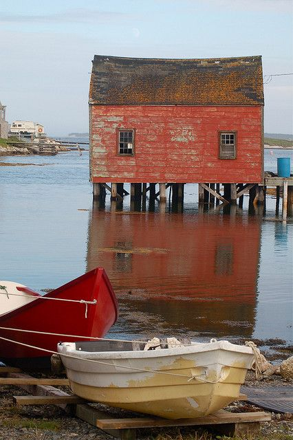 """Red Shed"" ~ by halifaxlight on Flickr. Peggy's Cove, Nova Scotia, Canada"