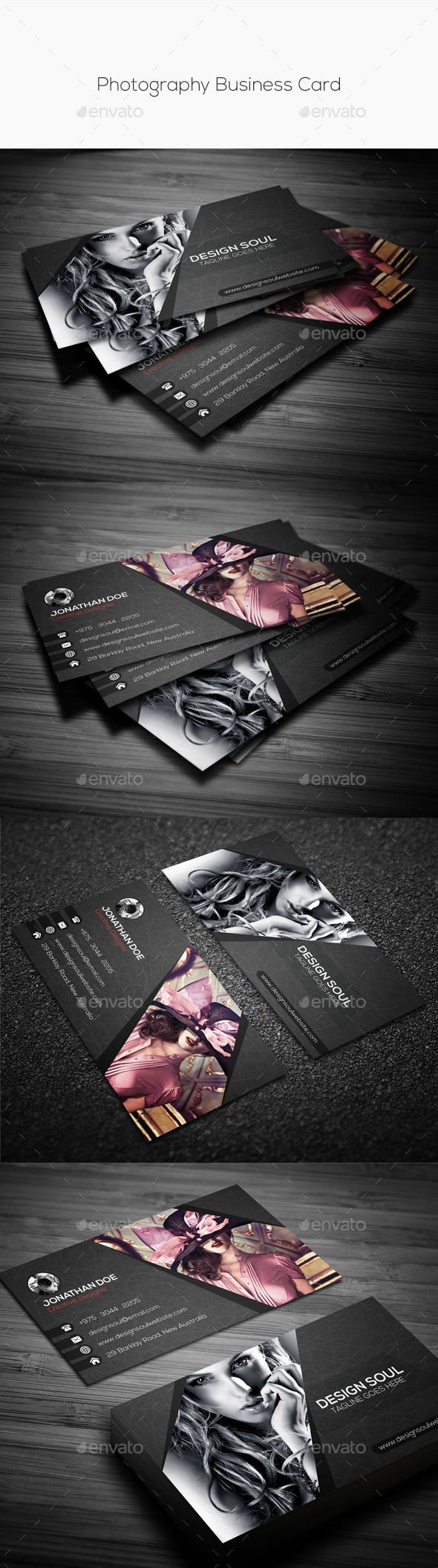 1000 images about graphic designer on pinterest buy photography business card by on graphicriver adobe photoshop fully layered psd files easy customizable and editable easy to use your own photossmart reheart Image collections