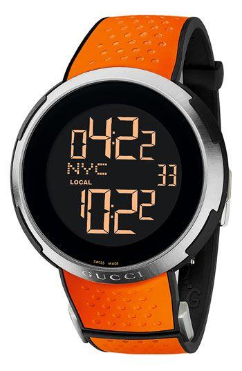 Gucci 'I Gucci' Rubber Strap Watch