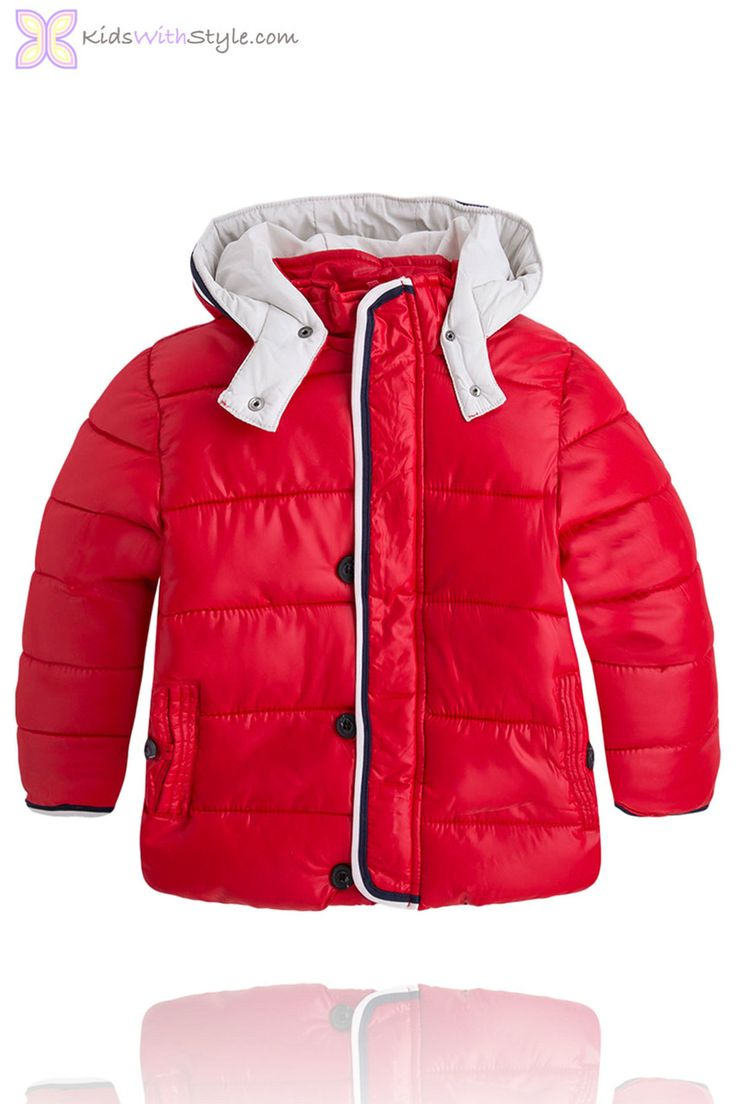 Your son will be ready for the cold days of winter when he has this Red Boys Winter Coat. Shop all your favorite boys fashion trends at kidswithstyle.com Free 2-3 day shipping on orders $75+