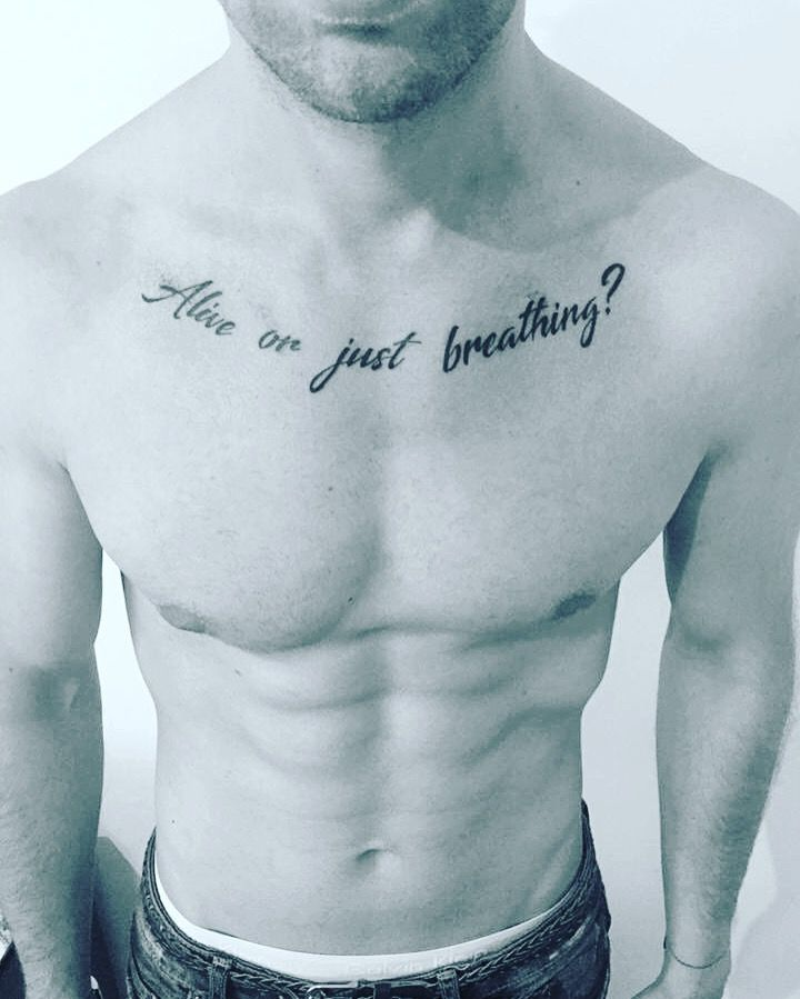 Alive or just breathing tattoo