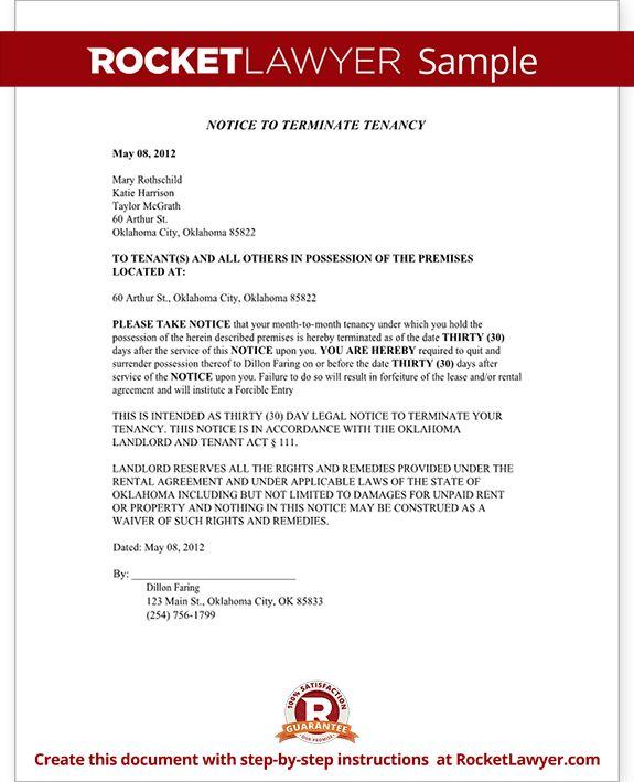 Sample Oklahoma Eviction Notice