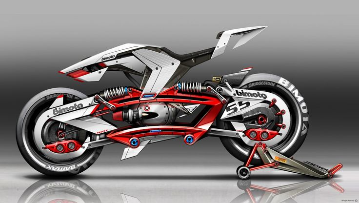 Bimota - Adjustable Weight Balance Motorcycle Concept / School Project / ISD (FRA) by Jean-Thomas MAYER