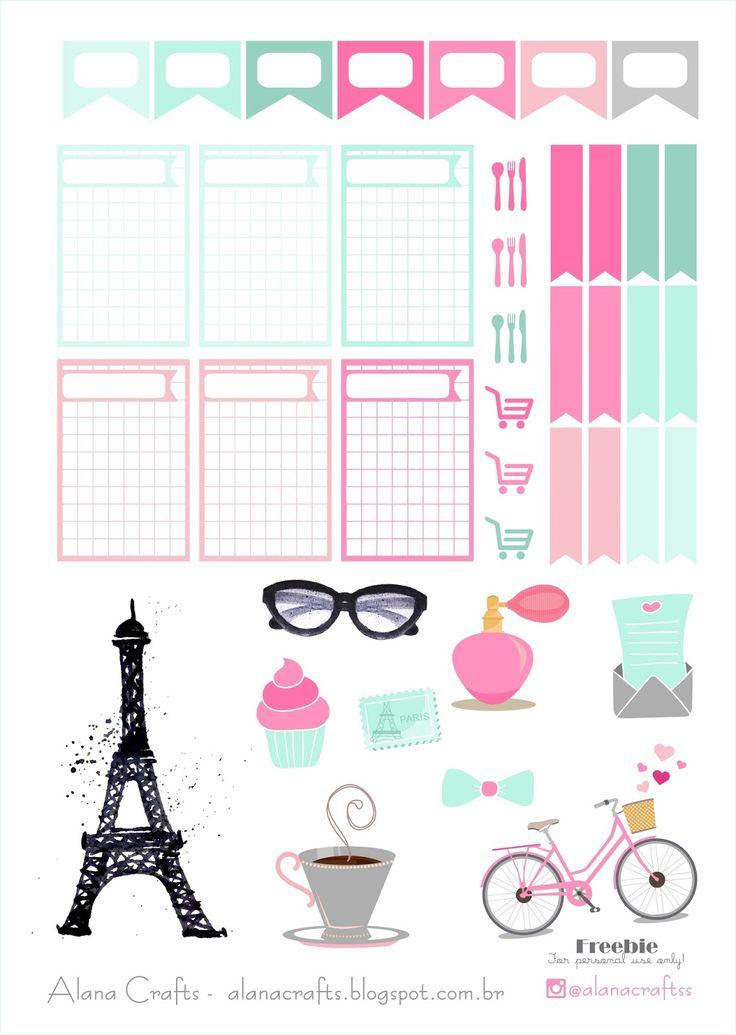 Alana Crafts: Freebie Paris!