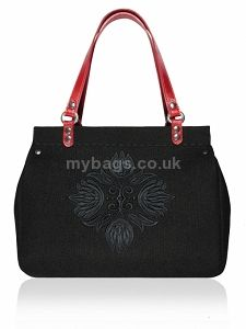 GOSHICO Felt bag with leather handles DESTINY http://mybags.co.uk/goshico-felt-bag-with-leather-handles-destiny.html