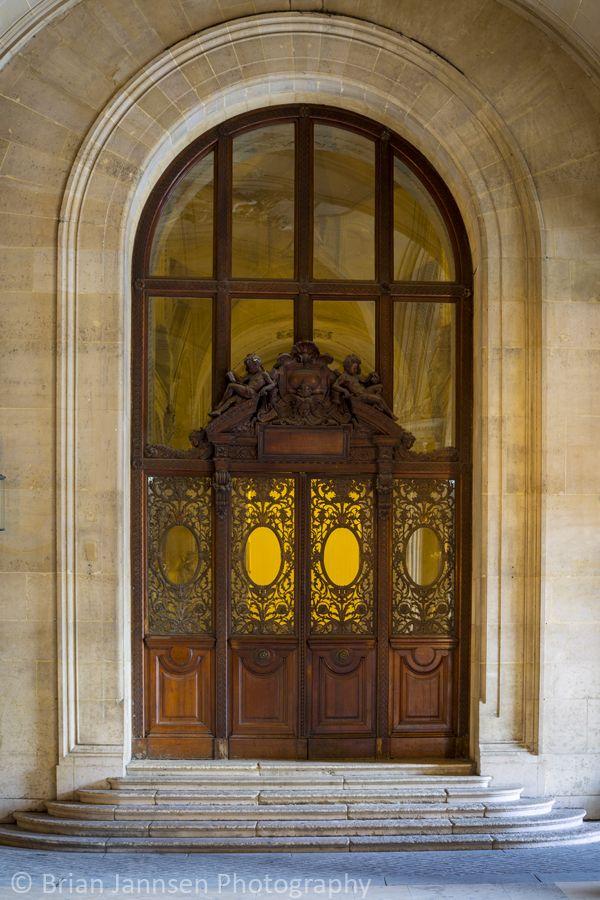 Ornate door at Musee du Louvre, Paris France. © Brian Jannsen Photography