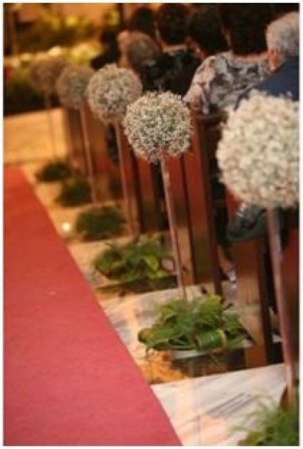 399 best images about decoraci n iglesia church wedding - Decoracion para pasillos ...