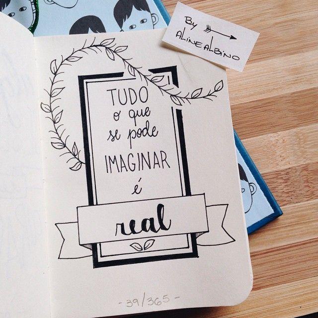 """310 curtidas, 4 comentários - Aline Albino (@byalinealbino) no Instagram: """"Day 39: Everything you can imagine is real. - Picasso 39/365 . Ilustrando o livro """"365 Dias…"""""""