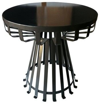 Round Side Table - contemporary - Outdoor Side Tables - ivgStores  houzz