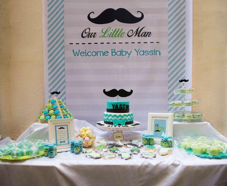 Mustache baby shower ideas