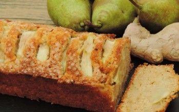 Fruitige Roombotercake met peer en gember