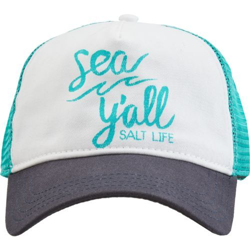 Salt Life Women's Sea Y'all Trucker Hat (Navy, Size One Size) - Women's Outdoor, Ladies Casual Access at Academy Sports