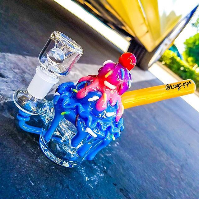 EMPIRE GLASSWORKS - BUBBLEGUM SUNDAE MINI OIL RIG  By @empireglassworks  Available on our online head shop  15% OFF SALE  Code: LOVE15  Free USA Shipping  KINGS-PIPE.COM  #kingspipe  #420 #710