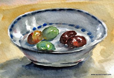 LAURA CLIMENT La aceituna, un tesoro en peligro. Watercolor