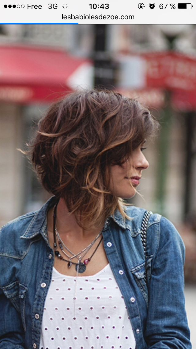 25 best ideas about wavy haircuts on pinterest wavy beach curls hair with layers and medium - Carre plongeant effile ...