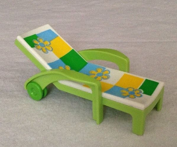 REPLACEMENT Playmobil 4864 Paddling Pool Set Green Flower LAWN CHAIR Piece Part #PLAYMOBIL