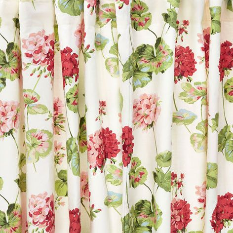 Geranium Floral Cotton Pencil Pleat Ready Made Curtains #lauraashleyhome
