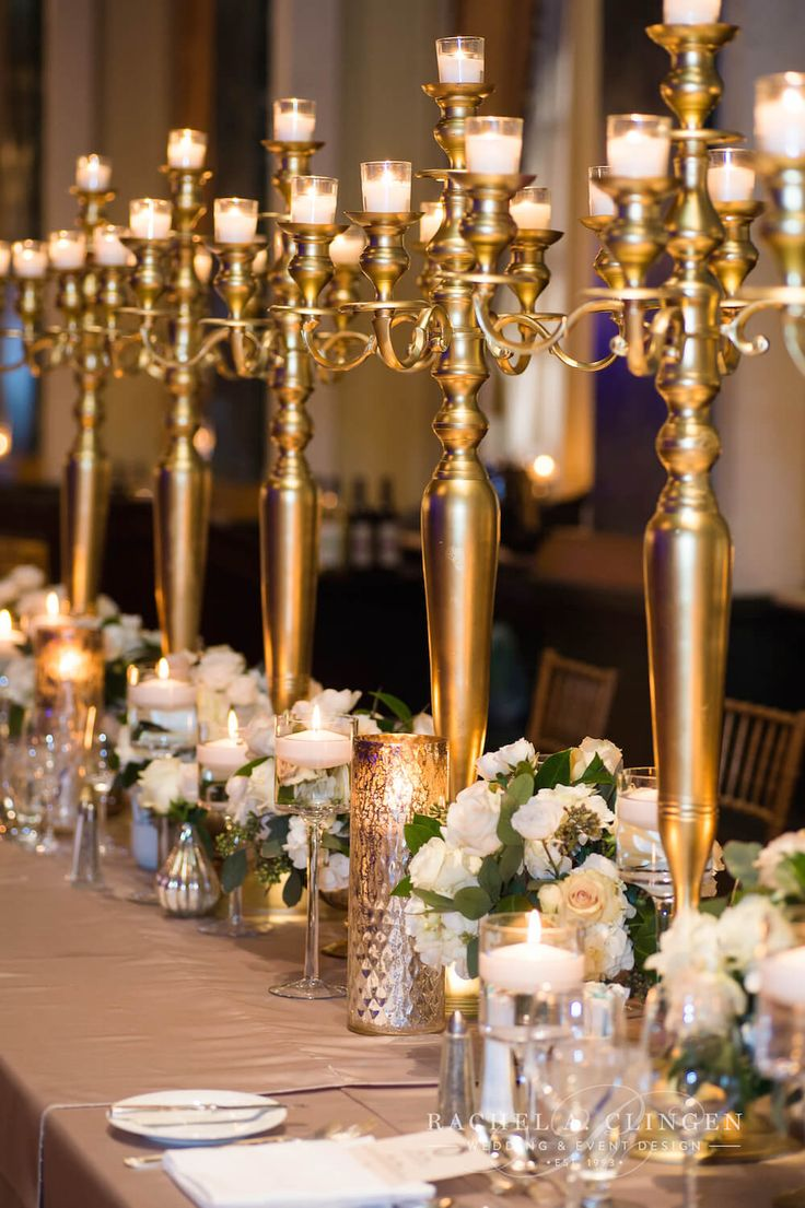 25 Best Ideas About Gold Candelabra On Pinterest Black Napkins Dollar Store Centerpiece And