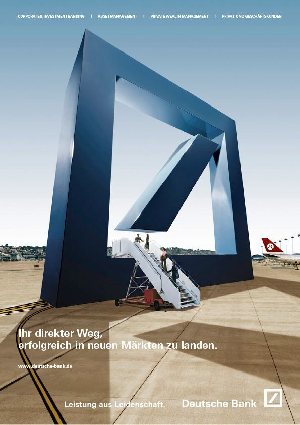 Deutsche Bank by Katrin Fillinger, via Behance