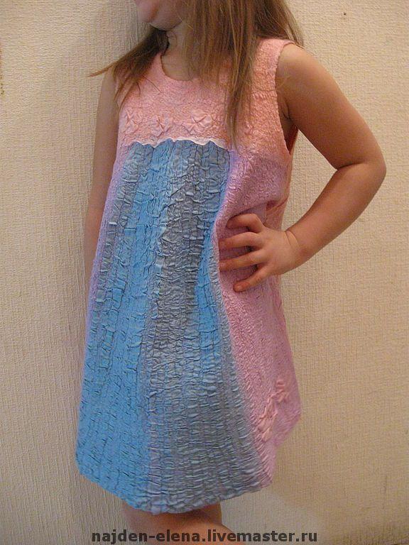 """Купить туника """"нежность"""" - детская одежда, Детский сарафан, одежда для девочек, туника для девочки, нуновойлок"""