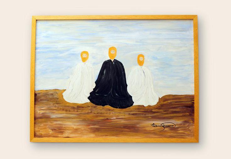 Des-cubrir Los alquimistas, buscan en el de-sierto.  Medidas: 60 x 80 | Técnica: Acrílico con técnica mixta, sobre bastidor. #pintura #subconsciente