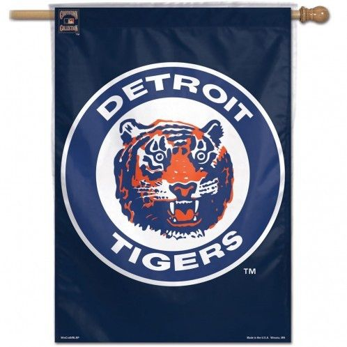 MLB Detroit Tigers Cooperstown Collection Vertical Flag