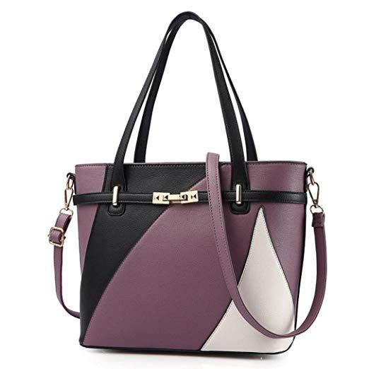 b32c64641 ❀Material:Artificial leather----Women's Vintage Style Soft Leather Work Tote
