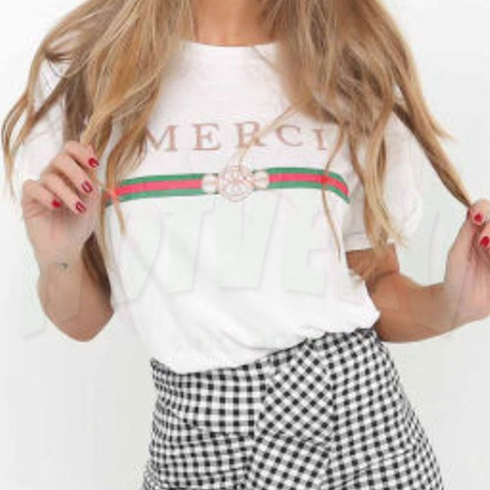 Merci Women Classic T Shirt, GC Parody Tee, Cheap Urban Clothing //Price: $14.00//     #hiphopclothing