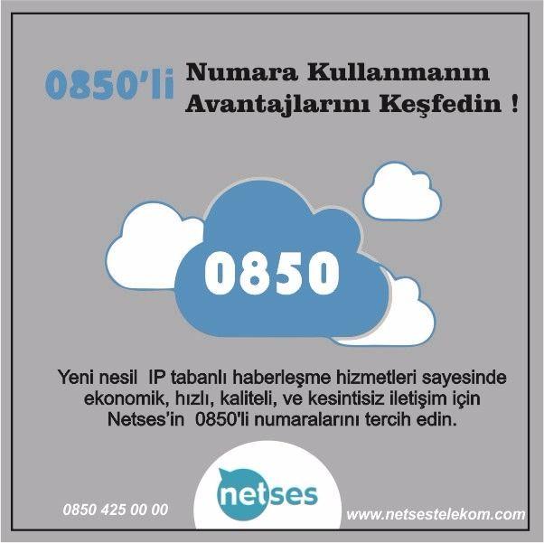 Netses Telekom'un 850'li numaraları ile avantajları keşfedin.  Detaylı Bilgi İçin => info@netsestelekom.com #Netses #Telekom #850li #Kesintisizİnternet