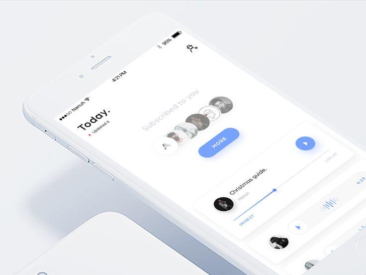 voice message app by Nanuh #Design Popular #Dribbble #shots