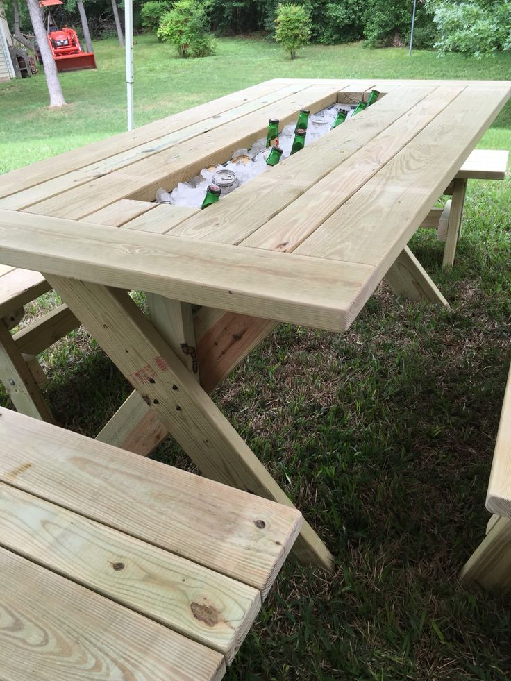 17 best ideas about picnic table cooler on pinterest diy Picnic table with cooler plans