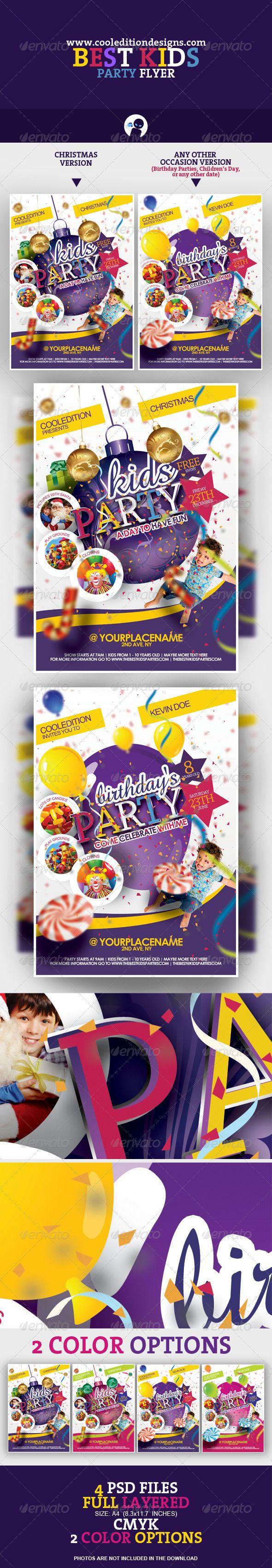 Best Kids Party Flyer  | $6