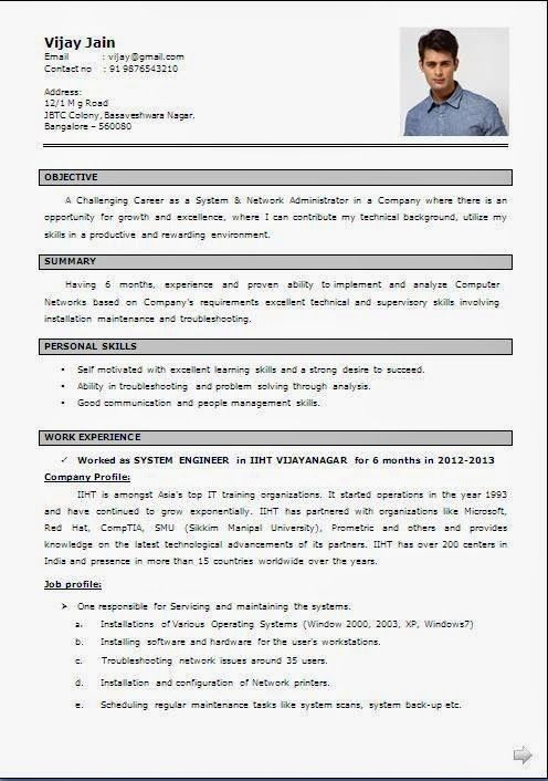 cv anglais design simple