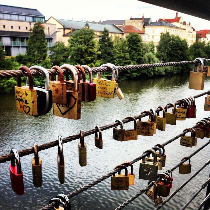 Locks of Love Bridge ; Bamberg Germany