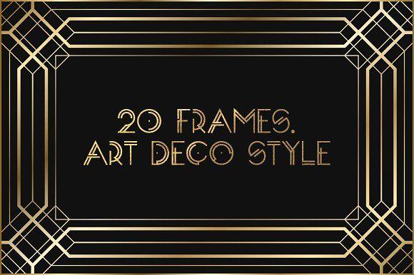 Art Deco Frames  by Olga Ryzychenko on @creativemarket
