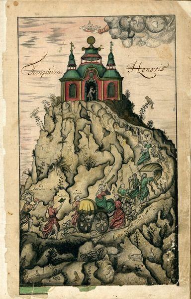 Templum Honoris, 1723, picturing Västgöta nation, [UPPSALA UNIVERSITY LIBRARY, BILD:12091]