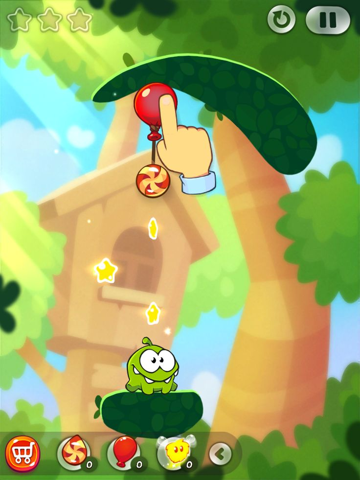 CUT the ROPE 2 | Action Phase Tutorial | UI, HUD, User Interface, Game Art, GUI, iOS, Apps, Games, Grahic Desgin, Puzzle Game, Brain Games, Zeptolab | www.girlvsgui.com