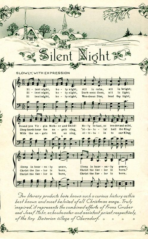 """Background"" christmas music sheet"