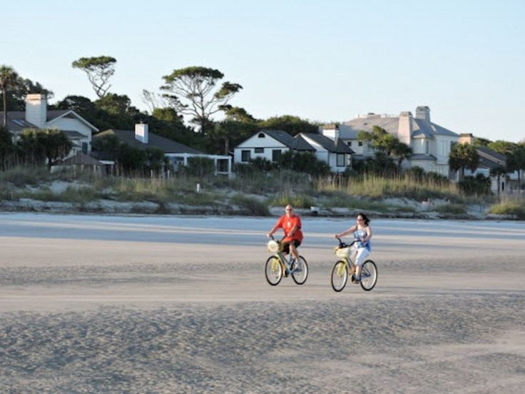 Hilton Head's beach is wide, hard and flat -- and perfect for two wheels. (Steven Brunot, Special to The Plain Dealer)