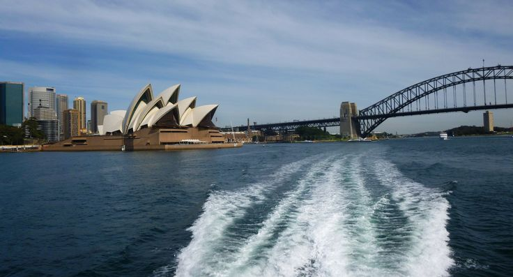 Leaving Sydney by Boat - Opera and Sydney Harbour Bridge Goodbye - Australia