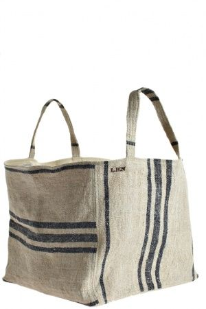 market tote by les habits neufs {for magazines or rolled guest towels}