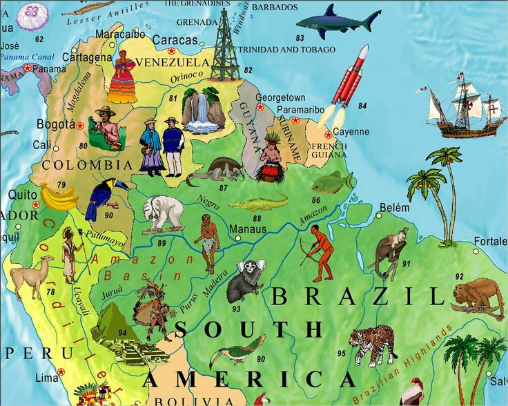 Illustrated Map Of The World For Kids Childrens World Map - Norway map amazon