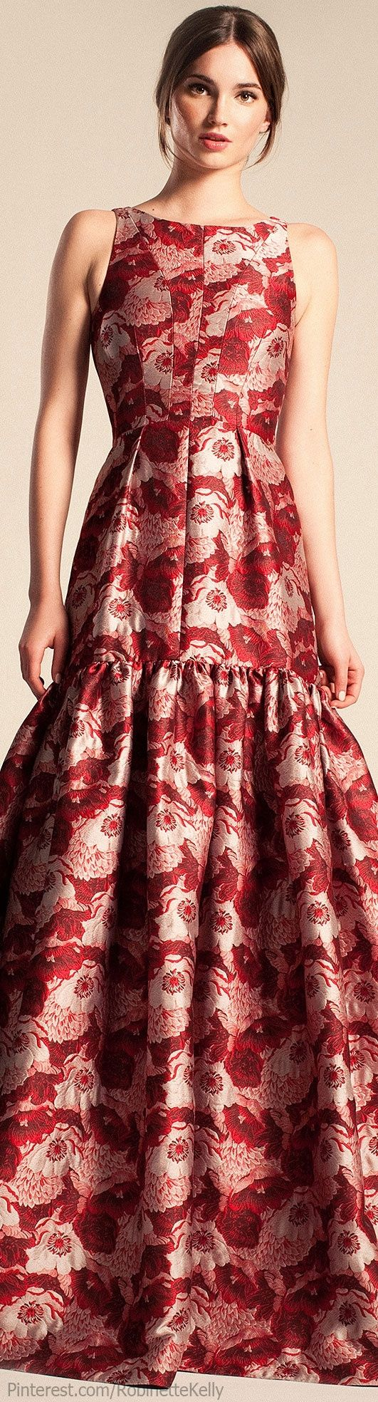 Temperley London | Resort 2014 red dress women fashion outfit clothing style apparel @roressclothes closet ideas