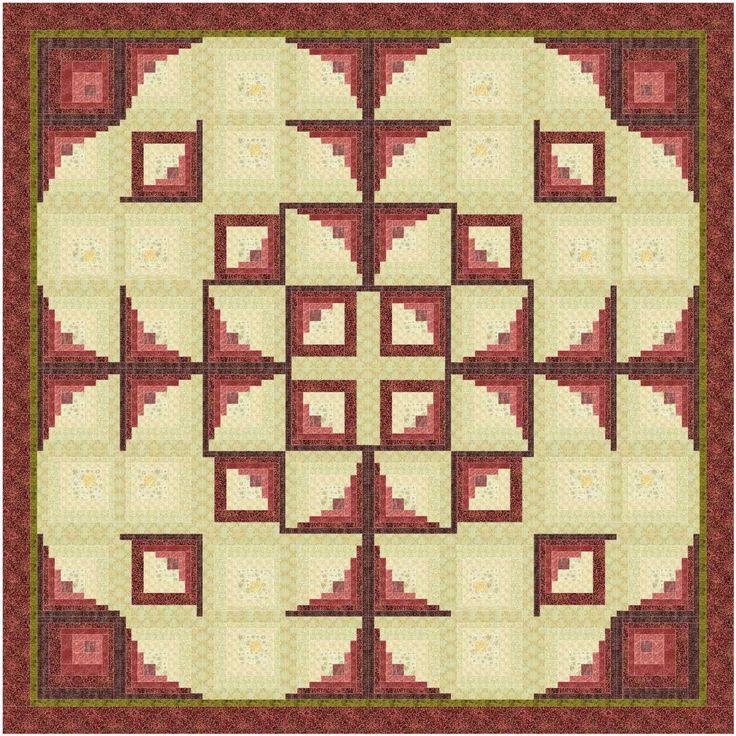 67 best Quilts: Log Cabin Chevron & Quarter Log Cabin Blocks images on Pinterest Log cabin ...