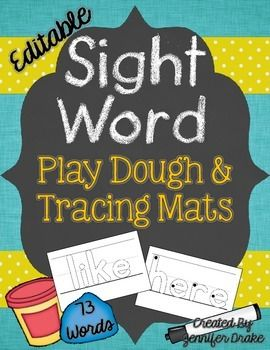 sight wordssight word buildingsight words editableplay doughplay dohdolch wordshigh frequency wordssight word centerAre your students ready to work with their new sight words?These generic sight word mats are ready to go! Print, laminate, and place at a center!